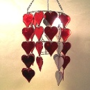 Chandelier with Heart Ornament  (Hong Kong)