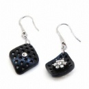 Ebony Wood Earrings (Mainland China)