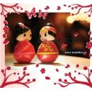 Plastic Tumbler Chinese Doll Wedding Gift (Hong Kong)