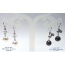 Pearl with Swarovski Crystal Beads & 925 Silver Hanging Earrings (Hong Kong)
