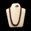 Ruby Necklace and Earrings Set (Hong Kong)
