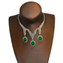 Diamond Jade Necklace (Hong Kong)