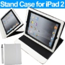 Faux Leather Stand Case Cover for Apple iPad 2 (Hong Kong)