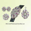 Gold Watch and Jewellery Set (Hong Kong)