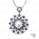 Marcasite Pin & Pendant with Fresh Water Pearl (Thailand)