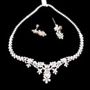 18K White Gold Necklace Earrings Set (Thailand)