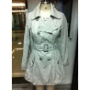 Ladies Cotton Metallic Woven Trench Coat (Hong Kong)