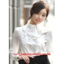 Ladies Shirt In Glossy Satin (Hong Kong)