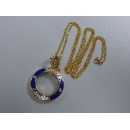 Gold Necklace Magnifier Pendant (Hong Kong)