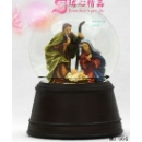 Junxin Jesus-in-manger Crystal Snow Globe 6 Inch Vintage Music Box Gift (China)