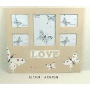 Wooden Antique Butterfly Multiview Photo Frame (China)