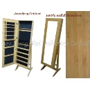 Bamboo Jewellery Cabinet With Mirror (Hong Kong)