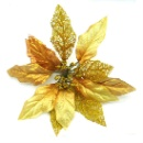 Metallic Poinsettia Clip On Ornament (Hong Kong)