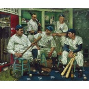 YANKEES DREAM SCENE - the Mythical Meeting of Babe Ruth, Lou Gehrig, Joe DiMaggio, Mickey Mantle (Australia)