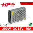 12v 200w Single Output AC to DC Constant Voltage Switching Power Supply (Mainland China)