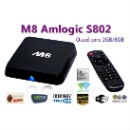 Quad Core XBMC Android TV Box M8 Amlogic S802 2G/8G 2.4G/5G Dual Mali450 GPU 4K HDMI Bluetooth Dolby (Hong Kong)