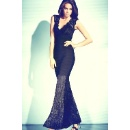 Ladies' Mesmerizing Mermaid Lace Maxi Bandage Dress (Hong Kong)