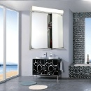 IP44 Rate Illuminated Bathroom Mirror Cabinet With Double Doors (Hong Kong)