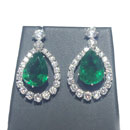 Diamond and Emerald Earring (Thailand)