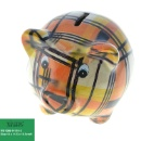 Ceramic Piggy Coin Bank With Full Decal Pattern (Hong Kong)