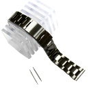 20mm Black Stainless Steel Watch Band Wholesale (Hong Kong)