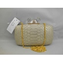 Apricot Snake Skin Pattern Evening Party Case (Hong Kong)