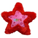 Star-Shaped Plush FM Scan Radio Cushion with Connector and Built-in LED  (Hong Kong)