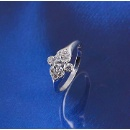 Top Quality Xuping Elegant Shinny Zircon Ring with Flower Shaped (Mainland China)