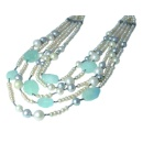 F.W. Pearls and Aquamarine Necklace Paradise (Italy)