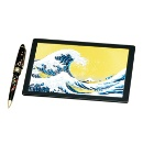 Mouse Pad & Pen - Waves & Fuji (Hong Kong)