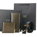 Genuine Leather Wallet with Belt Gift Set Wholesale (China)