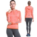 Women Long Sleeve Yoga Shirts Sports Breathable Running Outdoor Gym Yogaes Sport Woman Yoga Coat (Hong Kong)