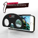 Gato Dobrável VR Multifuncional Óculos 3D com Estojo para o Iphone (China continental)