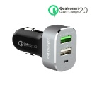 First Champion USB Car Charger - EL-745WQCTC - With Quick Charge 2.0 (Hong Kong)