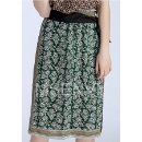 Floral Digital Printed Silk Crepe De Chine Skirt (Hong Kong)