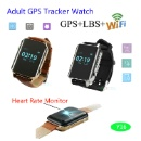 GPS Tracker watch for Elderly with Heart Rate Monitor (China)