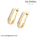 Fashion Hot Sale Mexico Style Cubic Zirconia Jewelry Earring Huggie (China)