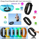 Cheap Smart Bracelet with Heartrate Monitor and Bluetooth 4.0 (China)