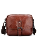 Wax Leather Men's Business Messenger Bag  (China)
