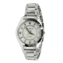 FW972B White Dial PNP Shiny Silver Watchcase Men Women 2035 Quartz Fashion Watch (Hong Kong)