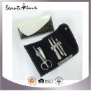 High Quality Stainless Steel Manicure Set with Shiny Fashion PU Manicure Set (Hong Kong)