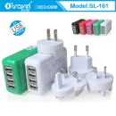 USB AC Universal Power Home Wall Travel Charger Adapter for iPhone 6 PLUS 4 4S 5 Samsung HTC (China)