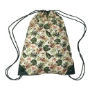 Drawstring Canvas Backpack with Jungle Print (Hong Kong)