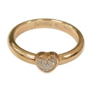 Shiny Heart Ring with Diamond (with 18K Rose Gold Plated) (Hong Kong)