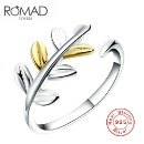 Double Color Leaf 925 Silver Ring (China)