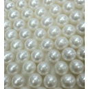 7.5 - 8mm Round Shape Fresh Water Pearl White Color String (Hong Kong)