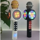 Flash Led Lights Wireless Bluetoothh Microphone Hifi Speaker (Hong Kong)