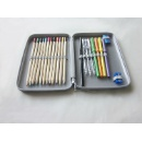 Stationery Pencil Tin Box With Zipper (Hong Kong)