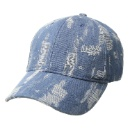 Steve Madden Women's Denim Distressed Baseball Cap without Logo (China)