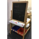 Kids Convertible Easel Desk With Stool (China)